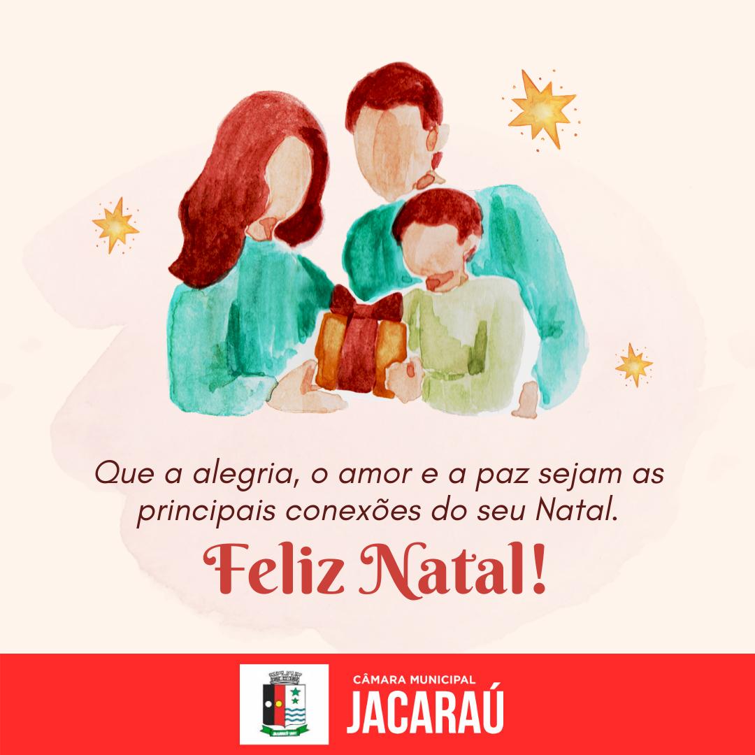 Mensagem de Natal e de Ano Novo, do vereador e presidente da Câmara de Vereadores de Jacaraú, Lico de Doro