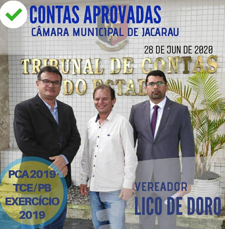 TCE aprova contas de 2019 da Câmara de Jacaraú